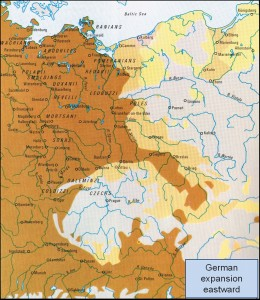 German expansion eastward mid 12th to 14th century Times Concise Altas of World History