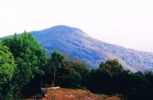 view from Monte Santo over Veliki Hrib, altitude 552 to the summit of Monte San Gabriele, 2006