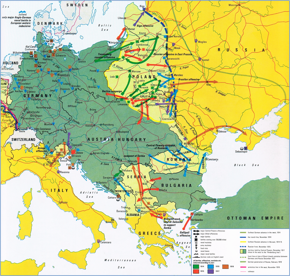 War in Europe, 1914-1918 Times Concise Altas of World History