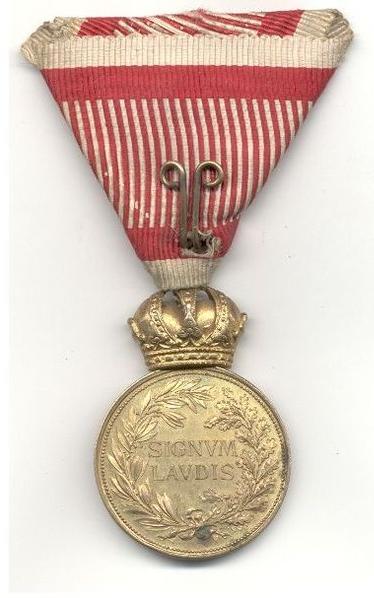 bronze military merit medal with swords reverse