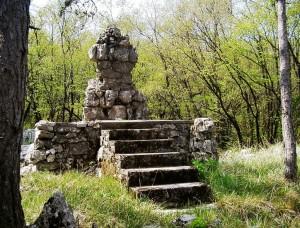 Monument on Veliki Hrib Photo: Benjamin Cerne