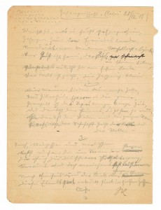 Gefangenschaft written by Josef Kolbe at Calci, 29.03.1918